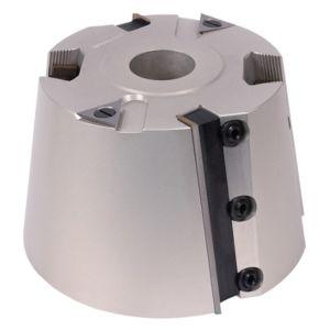 Whitehill 150 x 100 x 30mm 9deg Cill Bore Z2 Serrated Rad Slots Aluminium Cutter Block - 080A00070
