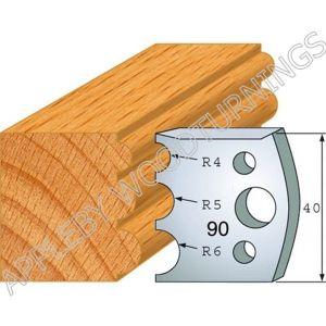 Profile No. 90  40mm Euro Knives, Limitors and Sets