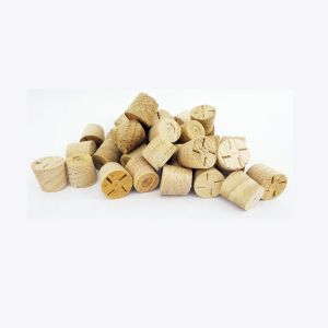 """1/2"""" Chestnut Tapered Wooden Plugs 100pcs"""