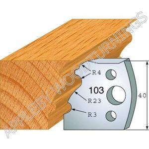 Profile No. 103  40mm Euro Knives, Limitors and Sets