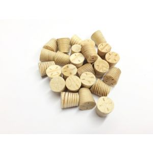 14mm Larch Tapered Wooden Plugs 100pcs supplied by Appleby Woodturnings