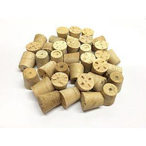 10mm Idigbo Tapered Wooden Plugs 100pcs