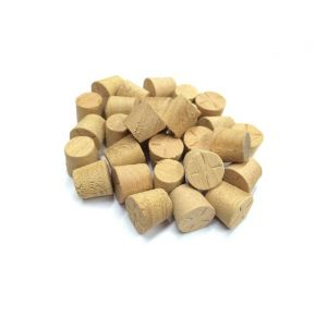 """3/8"""" Agba Tapered Wooden Plugs 100pcs supplied by Appleby Woodturnings"""