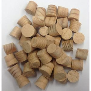 8mm Hemlock Tapered Wooden Plugs 100pcs