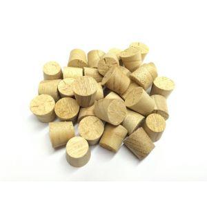 12mm Idigbo Tapered Wooden Plugs 100pcs