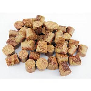 "1/2"" Cumaru Tapered Wooden Plugs 100pcs"