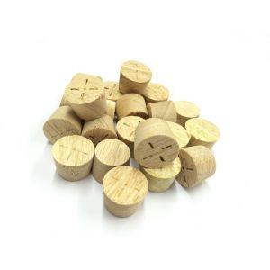15mm Idigbo Tapered Wooden Plugs 100pcs