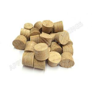 15mm American White Oak Tapered Wooden Plugs 100pcs