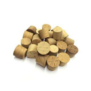 14mm Iroko Tapered Wooden Plugs 100pcs