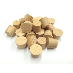 18mm Steamed Beech Tapered Wooden Plugs 100pcs supplied by Appleby Woodturnings