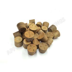 16mm Teak Tapered Wooden Plugs 100pcs