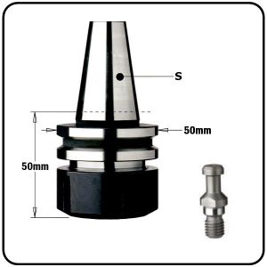 """ISO30 CNC Tool Arbor Chucks for """"ER32"""" Collets to suit Bulleri Machines"""