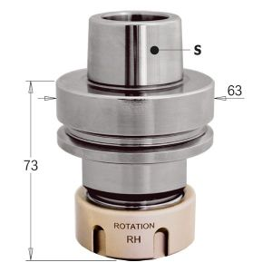 CMT HSK-63F Tool Arbor with Ballrace Safety Nut to take ER32 Collet