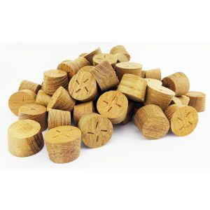 60mm Teak Tapered Wooden Plugs 100pcs