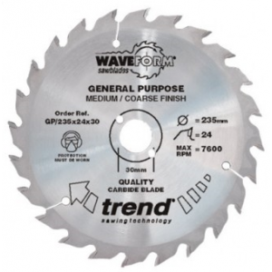 190mm Z=24 Id=30 TREND Industrial Hand Held / Portable Saw Blade To Fit Festool AP65
