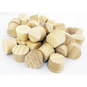 28mm Ash American White Tapered Wooden Plugs 100pcs