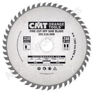 216mm Z=64 Neg CMT Mitre / Cross Cut Saw Blade  292.216.64M