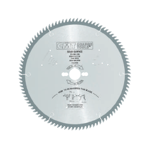 250mm dia CMT Solid Surface Saw Blade Z=72 to cut Corian Material