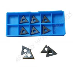 22.86 x 19.8 x 2.5mm Solid Carbide Triangle Spur Tips