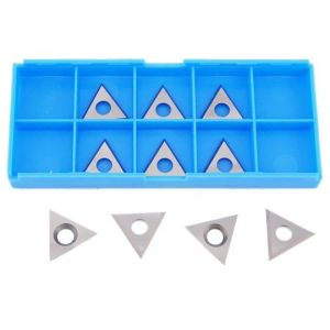 22 x 22 x 2mm Solid Carbide Triangle Spur Tips to suit CMT Cutters - 10pcs