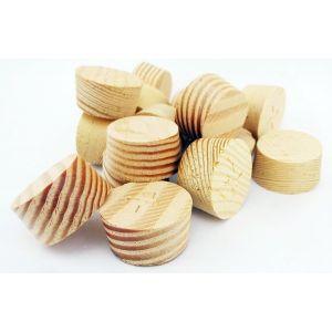 17mm Columbian Pine Tapered Wooden Plugs 100pcs