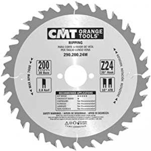 CMT Deep Rip Saw Blade 200mm Z=24 Id=30mm ATB