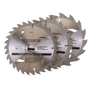 3 Pack 150mm TCT Circular Saw Blades to suit DEWALT DW351