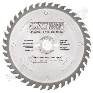 254mm Z=60 Neg CMT Cross Cut Saw Blade  294.060.10M