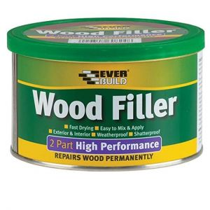 High Performance Interior/Exterior Fast Drying 2 Part Filler - Pine 500g Everbuild supplied by Appleby Woodturnings