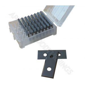 30 x 12 x 1.5mm  Reversible Knives Solid Carbide Tips (HARD GRADE)