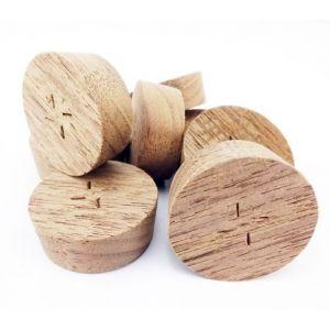 32mm American Black Walnut Tapered Wooden Plugs 100pcs