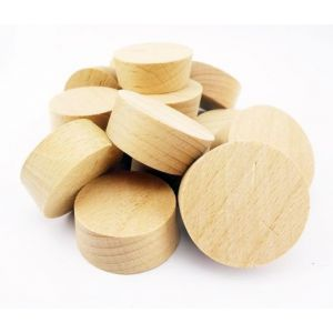 32mm Steamed Beech Tapered Wooden Plugs 100pcs