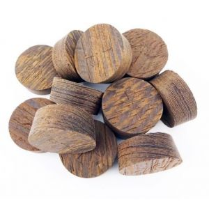 64mm Wenge Tapered Wooden Plugs 100pcs