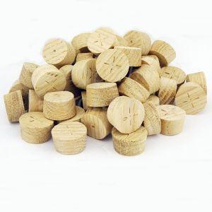 34mm European Oak Tapered Wooden Plugs 100pcs