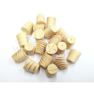 """3/8"""" Joinery Grade Redwood Tapered Wooden Plugs"""