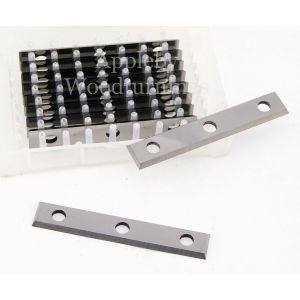 50 x 9 x 1.5mm  Reversible Knives Solid Carbide Tips (3 Holes) 1 Box (10pcs)