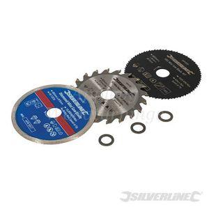 85mm Silverline 3 pack Mini Circular Saw Blade For Titan/Worx Saws 604320