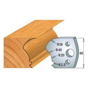 Profile No. 123 40mm Euro Knives, Limiters and sets