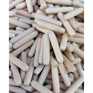 6 x 30mm Premium Hardwood Fluted Dowel Pins 100pcs