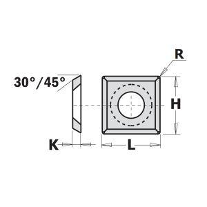 Reversible Spur Tips with Corner Rads - 1 Box (10pcs)