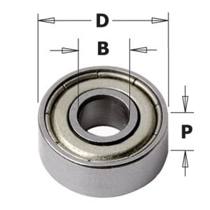 19mm x 7mm Router Cutter Replacement Bearing ID=6.35mm CMT