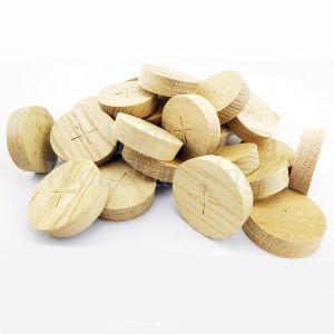 65mm European Oak Tapered Wooden Plugs 100pcs