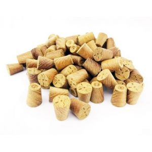 8mm Teak Tapered Wooden Plugs 100pcs