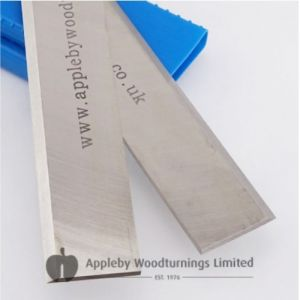 319 x 18.2 x 3.2mm Single Edged Resharpenable HSS Planer Blades to suit JWP-12 Benchtop Thicknesser - 1 Pair