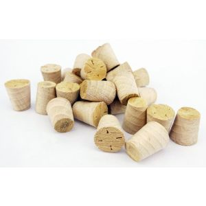 25mm White Beech Tapered Wooden Plugs 100pcs