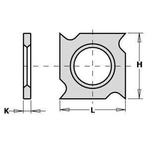 18mm Square Reversible Hook Tip Grooving Knives to suit CMT Cutters
