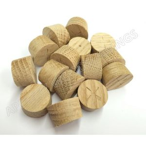 34mm American White Oak Tapered Wooden Plugs 100pcs
