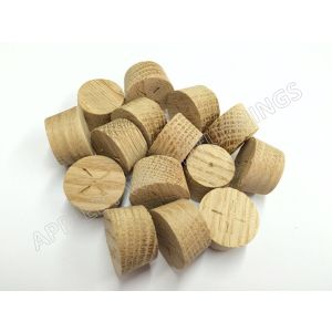 18mm American White Oak Tapered Wooden Plugs 100pcs