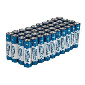 40 Pack AA 1.5V Powermaster Premium Alkaline Industrial Strength Batteries