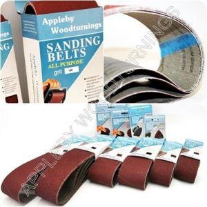 160 Pack Sanding Belts 13 x 457mm Various Grit Sizes